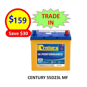 55D23L-CARS&PASSENGER VEHICLES-CENTURY BATTERY-12VOLTS