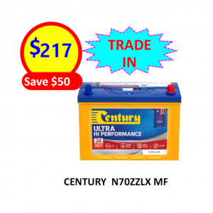 N70ZZLX MF – 4×4&SUVS – CENTURY BATTERY-12VOLTS