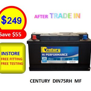 DIN75RH MF - CARS & PASSENGER VEHICLES BATTERY