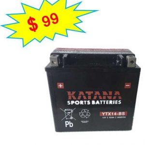 katana Motorcycle Battery YTX14-BS