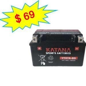katana Motorcycle Battery YTX7A-BS