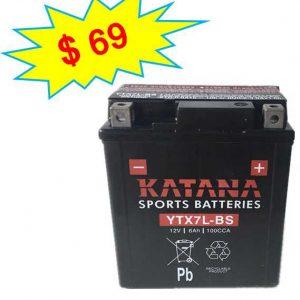 katana Motorcycle Battery YTX7L-BS